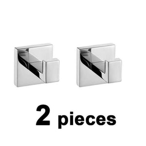Stainless Steel Bathroom Hardware Set Mirror Chrome Polished Towel Rack Toilet Paper Holder Towel Bar Hook Bathroom Accessories - WELQUEEN