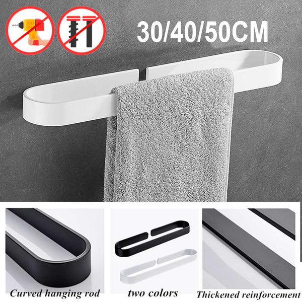 30/50/20CM Black/White Towel Rack Single Rod Bathroom Pendant Towel Bar Towel Hanger Bathroom Storage Accessories