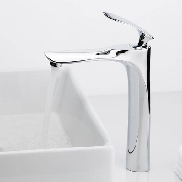 Basin Faucets Bathroom Faucet Hot and Cold Water Basin Mixer Tap Chrome Brass Toilet Sink Water Heightening Crane - WELQUEEN