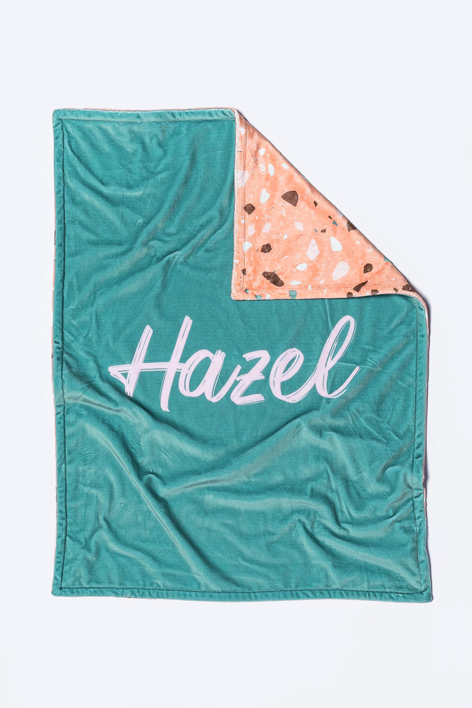 Copper Terazzo Name Blanket
