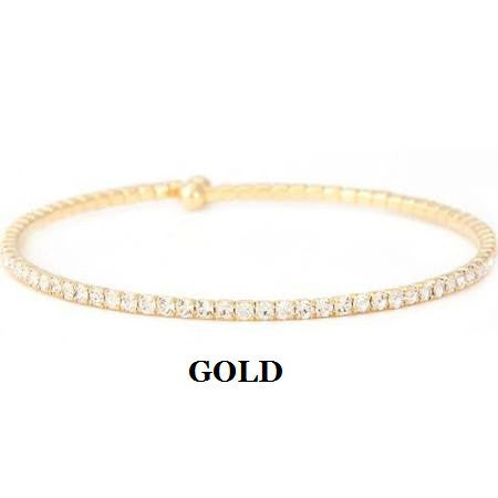 Single Row CZ Bangle
