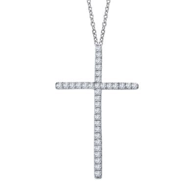 Thin Cross Pendant Necklace