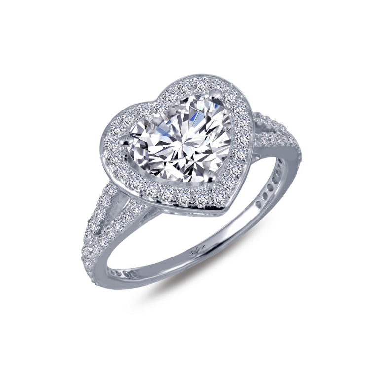 Heart-Shape Halo Engagement Ring