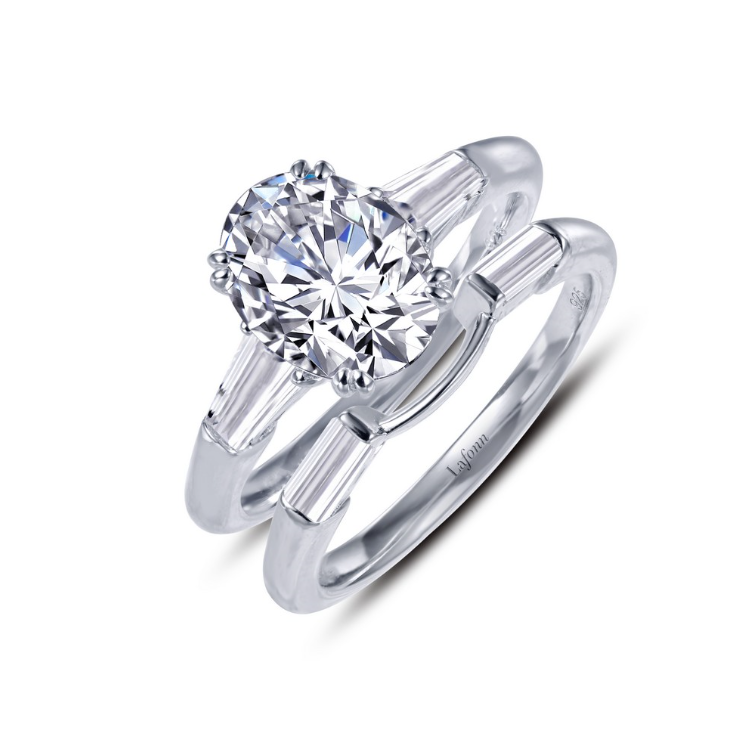 Oval Wedding Set