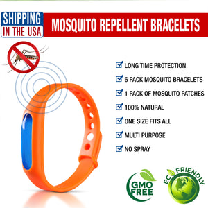 MOSQUINATOR™ ANTI MOSQUITO BRACELETS AND PATCHES (6 PACK)