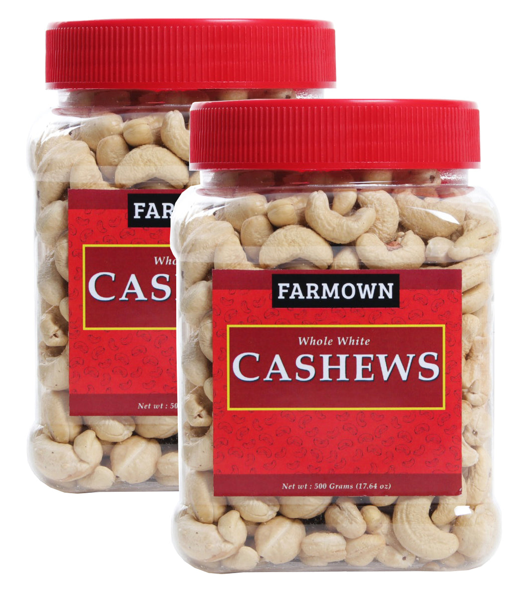FarmOwn Whole Cashew Nut W320 Regular Size Cashews Kaju 1Kg