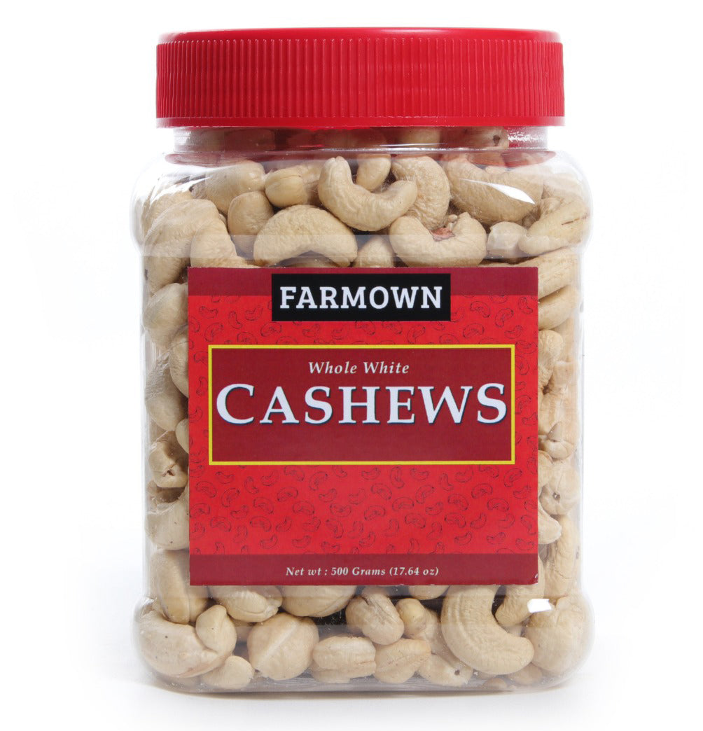 FarmOwn Whole Cashew Nut W320 Regular Size Cashews Kaju 500 Grams