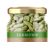 Load image into Gallery viewer, FarmOwn Green Cardamom (Elaichi) Premium Extra Bold 8mm 100 Grams