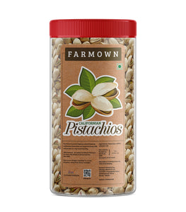 Farmown Californian Roasted Salted Pistachios (500 Grams)