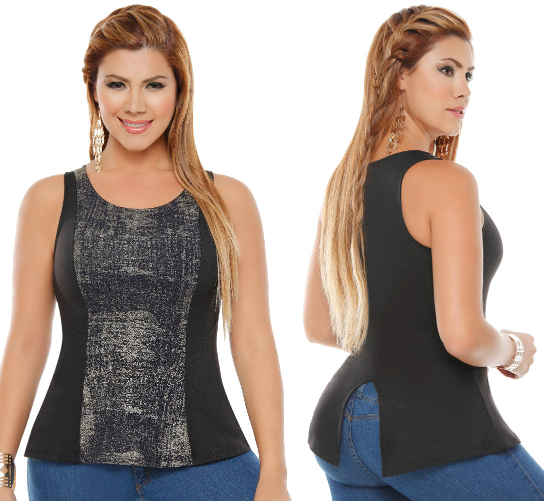 Black Party Sleeveless Top