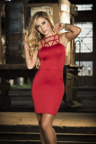 Red Sweetheart Body Mini Dress