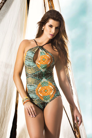 One-Piece Printed Bathing Suit
