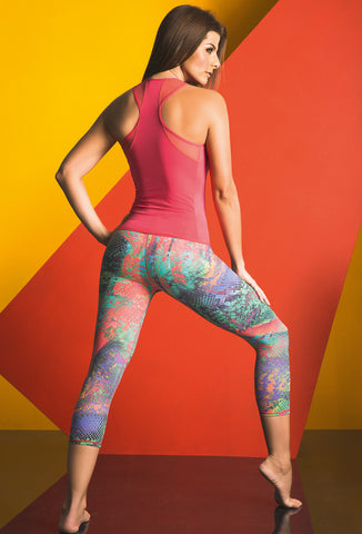 Printed Athletic Capris 17749