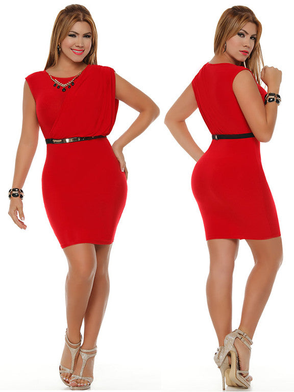 Red Formal Sexy Mini Dress