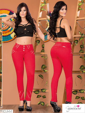Ruby Red Push Up Jeans