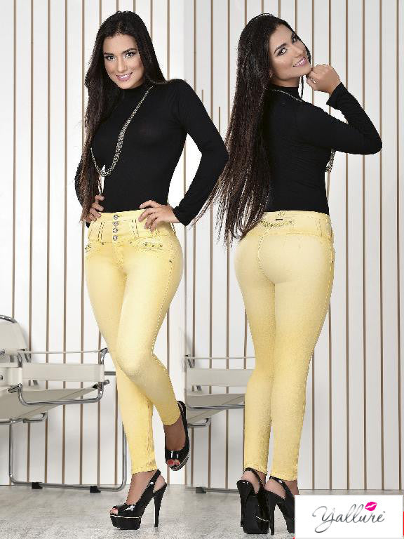 Yellow Push Up Skinny Jeans