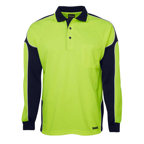 HI VIS ARM PANEL POLO L/S