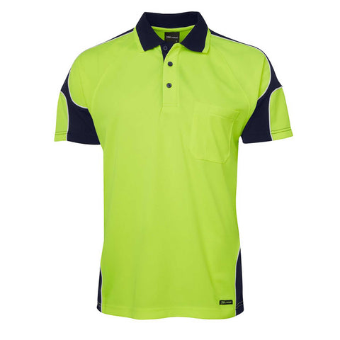 HI VIS ARM PANEL POLO S/S