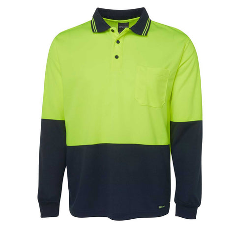 HI VIS TRADITIONAL POLO L/S