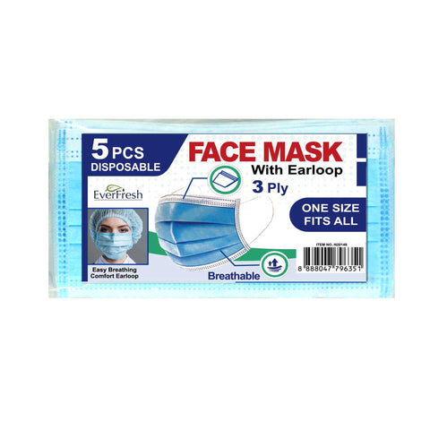 Breathable Face Mask - 5 Pack