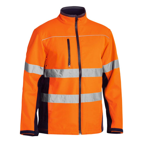HI VIS SOFT SHELL TAPED JACKET
