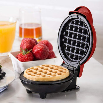 Dash Mini Maker: The Mini Waffle Maker Machine for Individual Waffles, Paninis, Hash browns, & other For Breakfast, Lunch, or Snacks - Black