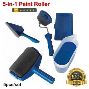 5 in 1 paint roller kit Seamless Multifunctional Sponge professional roller paint Brush Equipment Home diy Tool Brush Set