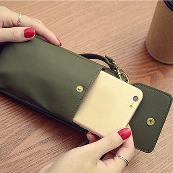 Women Phone Wallet Detachable Strap Bag