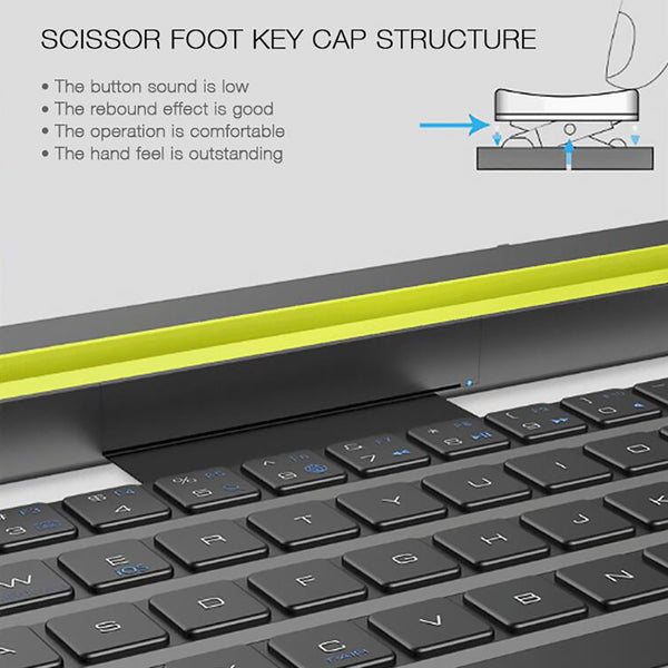 35@ 2019 Universal Portable Folding Bt Wireless Bluetooth Keyboard Rollable Foldable Intelligent Magnetic Switch For Table Pc
