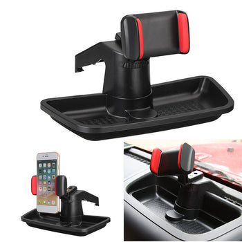 Mobile Phone Rotation Car Dashboard Holder Stand with Storage Box