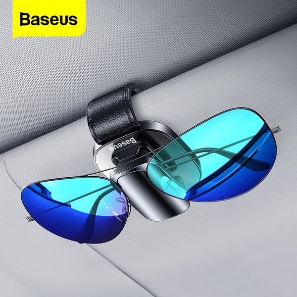Baseus Car Sunglasses Holder Sun Glasses Clip Auto Sunglass Organizer Car Sun Glass Storage Eyeglass Holder Stand Glasses Case