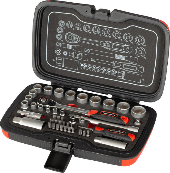 Rothewald Socket Wrench Set, 45-piece