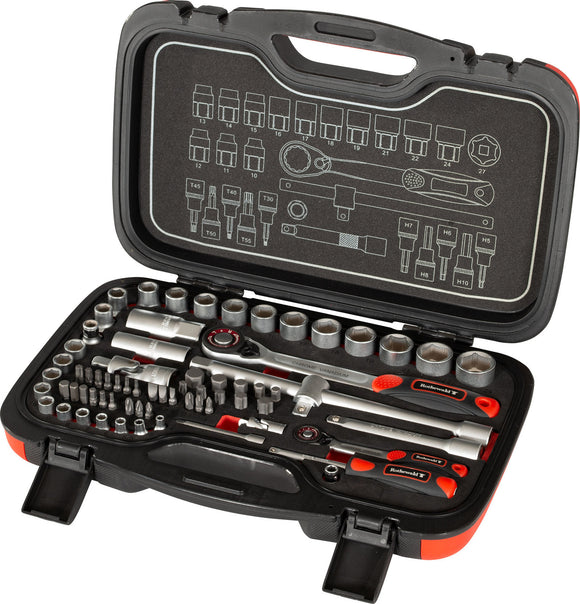 Rothewald Socket Wrench Set, 69-piece