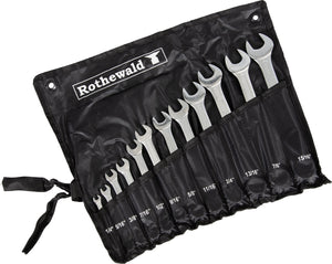 Rothewald open INCH, 12-PIECE, WITH BAG