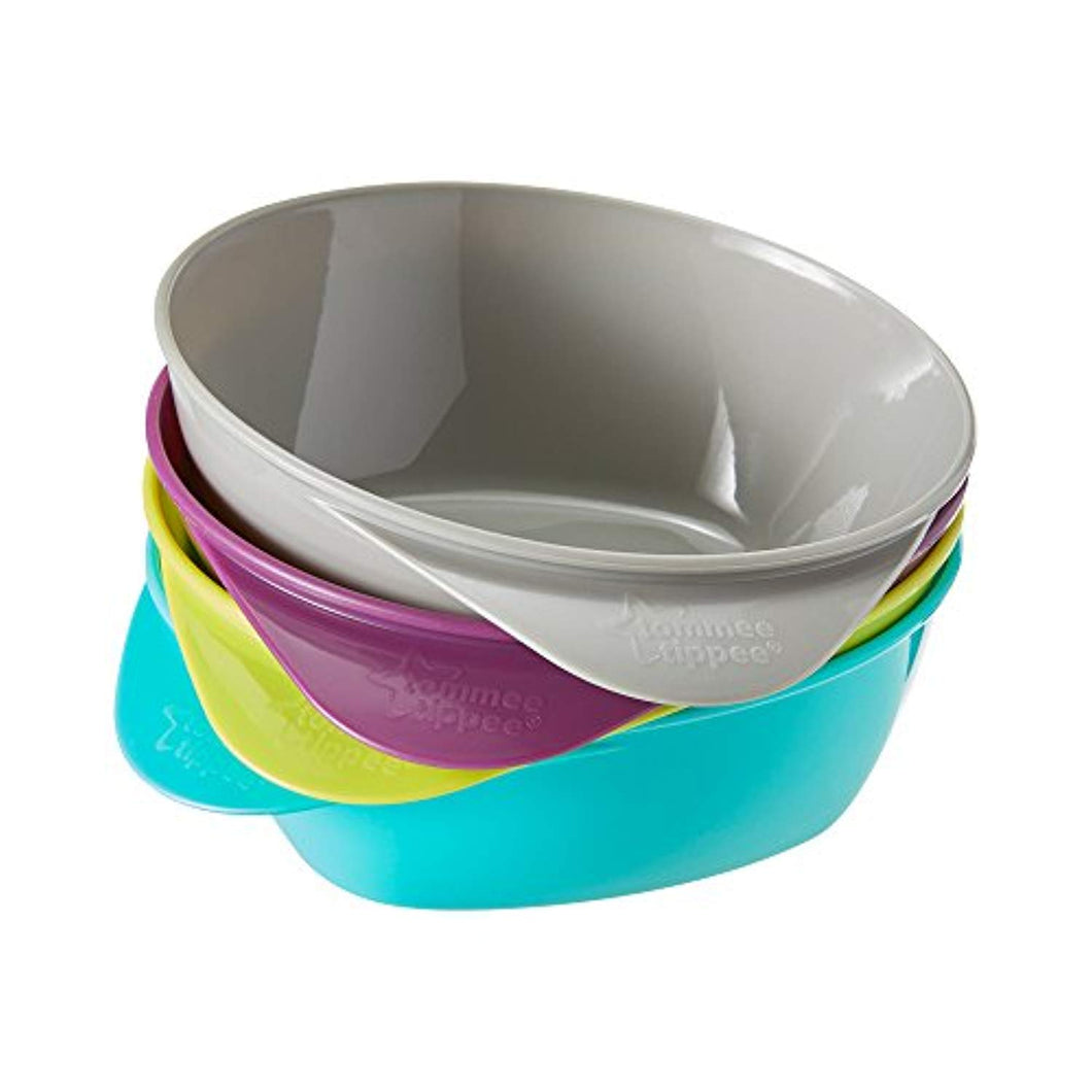 Tommee Tippee Easy Scoop Feeding Bowls 7m+ (Colours May Vary), 4 Bowls - iBuy Africa