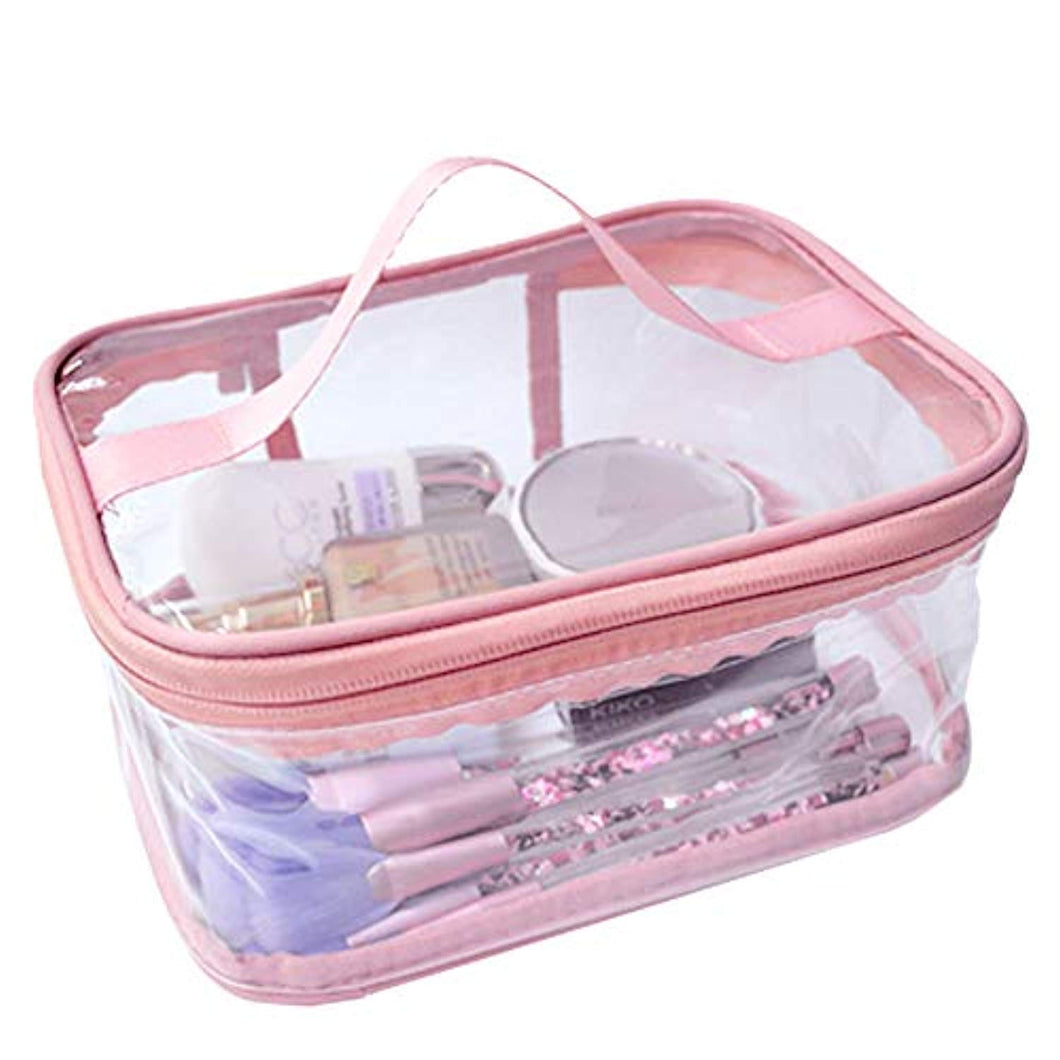FIYUK Toiletry Bag Makeup Cosmetic Clear Bag Portable Waterproof Transparent Travel Large Storage - iBuy Africa
