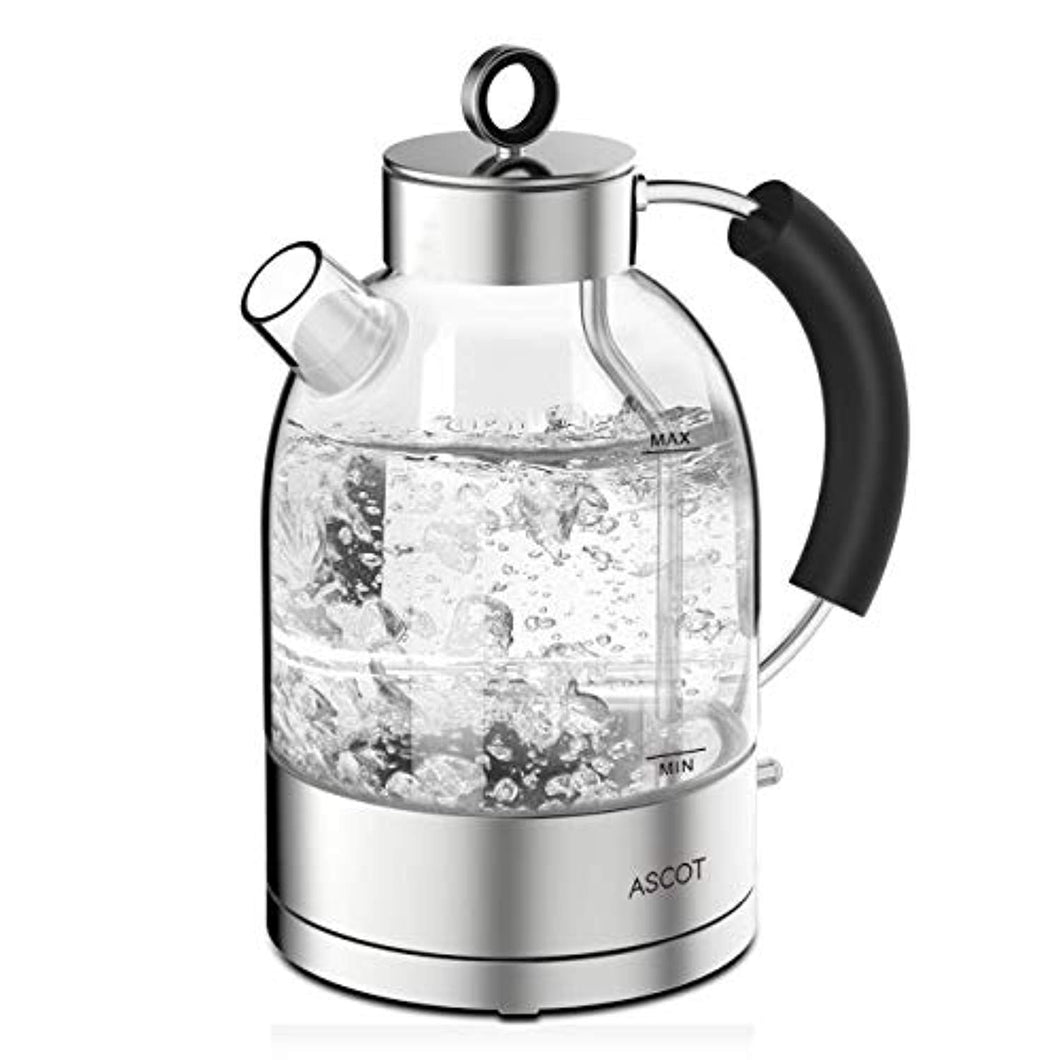 Glass Kettle Electric -1.7L Eco Water Tea Kettle Quiet Fast Boiling with BPA Free Auto Shut-Off & Boil-Dry Protection, 3000W - iBuy Africa