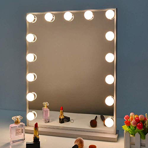 Hollywood Vanity Mirror with Lights, Dimmable Tabletop/Wall Cosmetic Lighted Makeup Beauty Mirror - iBuy Africa