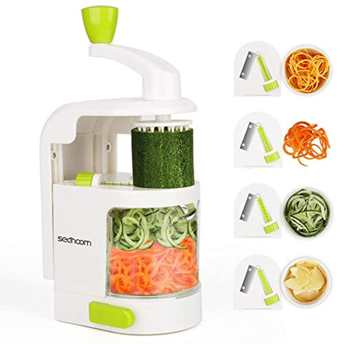 Spiralizer 4-Blade Vegetable Spiralizer Sedhoom Heavy Duty Spiral Slicer Zucchini Noodle & Veggie Pasta & Spaghetti Maker for Low Carb/Paleo/Gluten-Free Meals Apple Peelers - iBuy Africa