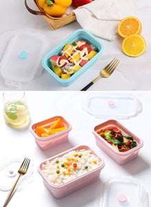 Silicone Food Storage Containers with Lids - 3 Pack Set 1200ml Collapsible Meal Prep Lunch Containers Bento Boxes - Microwave, Freezer and Dishwasher Safe - iBuy Africa
