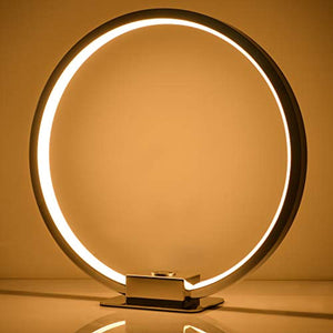 SPARKSOR Circle Shape LED Table Lamp,Dimmable Touch desklight,Round Aura Shape and Touch dimming Bring a sci-fi Atmosphere to The Space - iBuy Africa