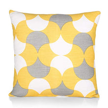 "Load image into Gallery viewer, Penguin Home 100% Cotton Decorative Double Sided Square Cushion Covers with Invisible Zipper 45cm x 45cm x 18"" (Set of 4, Yellow/Grey Mix), 45 X45 X1 cm - iBuy Africa"