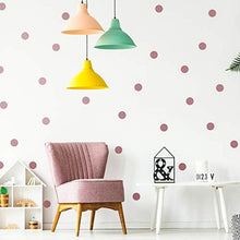 Load image into Gallery viewer, Wall Decal Dots (200 Decals) Posh Dots Easy Peel and Stick - Removable Metallic Vinyl Polka Dot Decor, Round Circle Wall Decal Stickers for Festive Baby Nursery Room (Rose Gold) - iBuy Africa