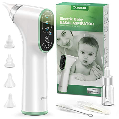 Baby Nasal Aspirator Electric, DynaBliss Baby Nose Sucker with 4 Silicone Tips and 3 Suction Levels, Rechargeable Nasal Aspirator Newborn Includes Bonus Nasal Tweezers and Drop Bottles and Clean Brush - iBuy Africa
