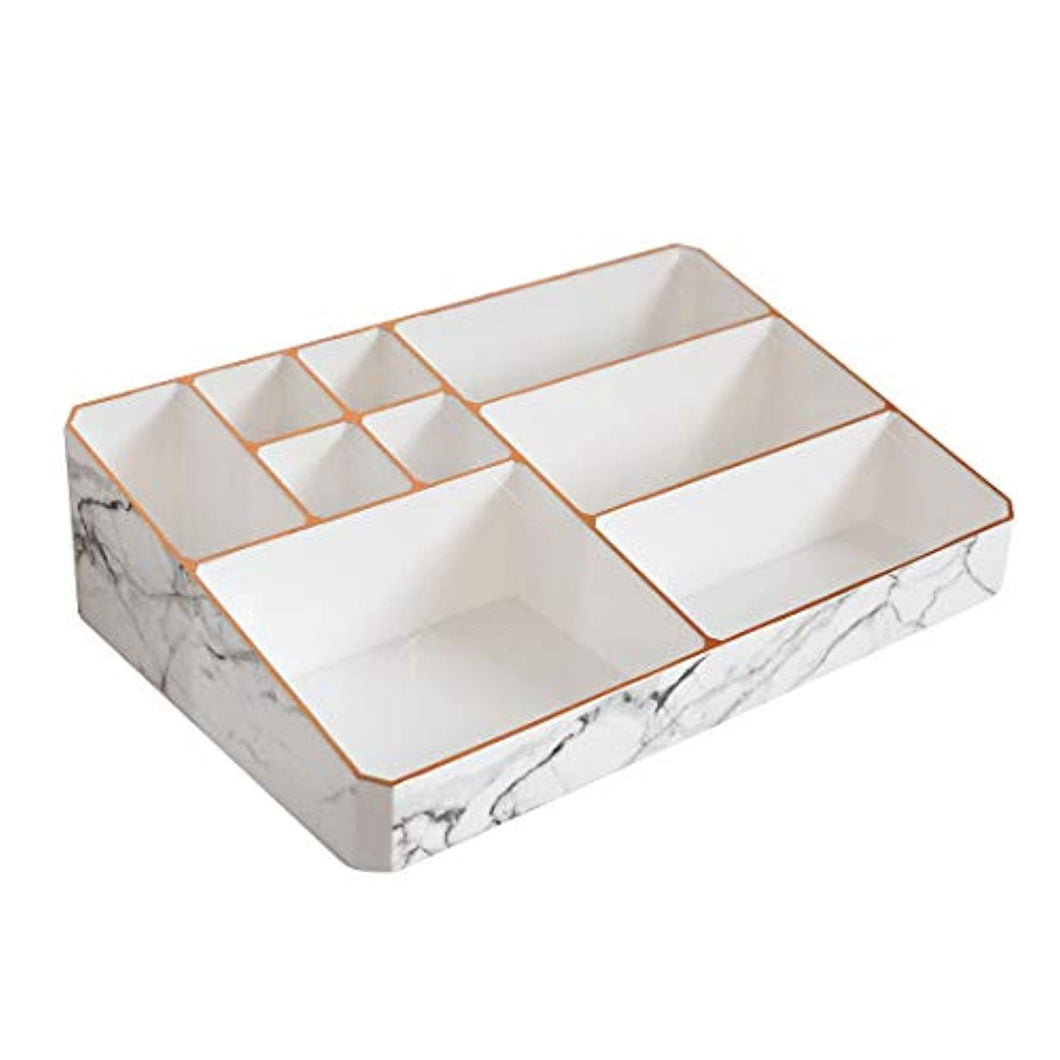 Nikita By Niki ® White & Rose Gold Marble Make Up Organiser | Acrylic Cosmetic Skin Care Storage Display - iBuy Africa
