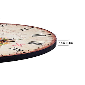 "Art Beauty Round Wall Clock Decorative/Vintage Style (Rose, 12"") - iBuy Africa"