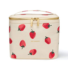 Load image into Gallery viewer, Kate Spade New York Insulated Soft Cooler Lunch Tote with Double Zipper Close and Carrying Handle, Strawberries - iBuy Africa