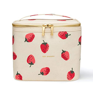 Kate Spade New York Insulated Soft Cooler Lunch Tote with Double Zipper Close and Carrying Handle, Strawberries - iBuy Africa