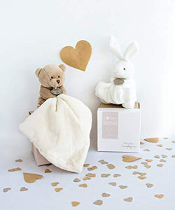 Doudou et Compagnie 10 cm Natural Rabbit and Towelling Doudou with Gift Box - iBuy Africa