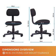Load image into Gallery viewer, Office Essentials Height Adjustable Desk Chair - Black - iBuy Africa